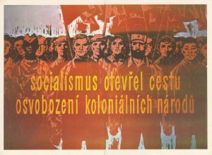 Socialism_liberation Czechanti-colonial poster Socialism opened the door of liberation for colonial nations'